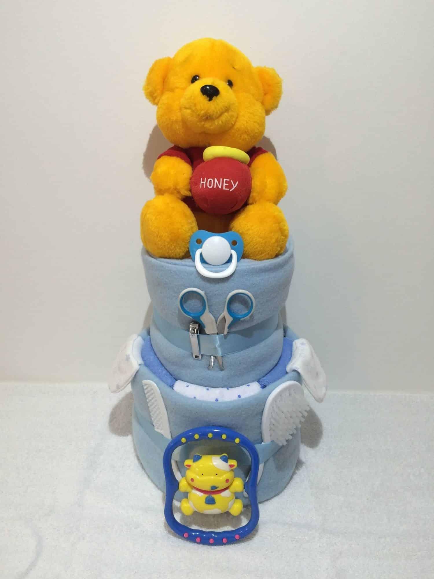 a62474243ee9 Honey Pot Winnie The Pooh Teddy Bear Nappy Cake - Jan s Hampers ...