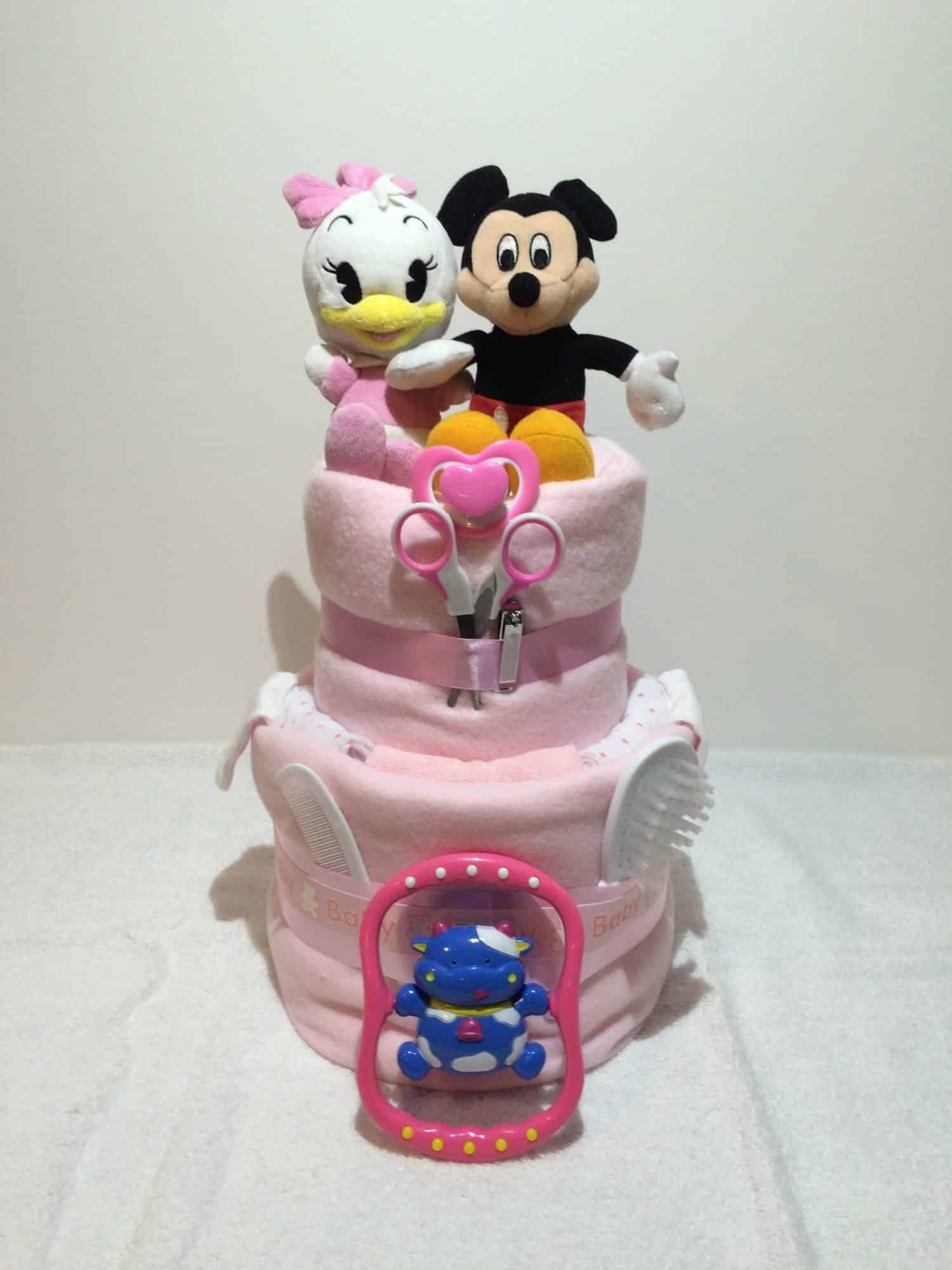 Miraculous Mickey Mouse Daisy Duck Teddys Nappy Cake Jans Hampers Personalised Birthday Cards Paralily Jamesorg